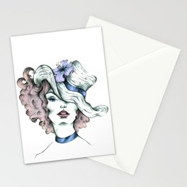 Orchid hat Stationery Cards