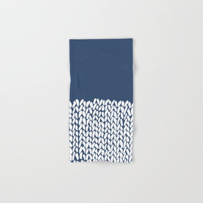 Half Knit Navy Hand & Bath Towel