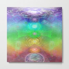 Chakra Activation Geometry Template Metal Print