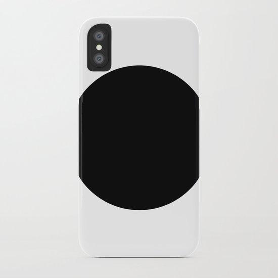 The Circle – Black iPhone Case