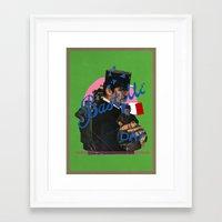 bastille Framed Art Prints featuring bastille day by crayon dreamer