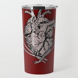 Suture Heart (red version) Travel Mug