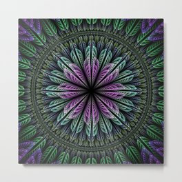 Magical dream flower II, fractal abstract Metal Print