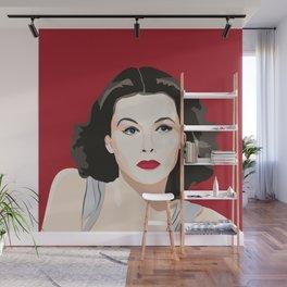 Hedy Lamarr portrait Wall Mural