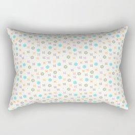 Teal orange lavender abstract modern floral Rectangular Pillow