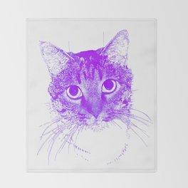 Jazz, drawing, purple Throw Blanket