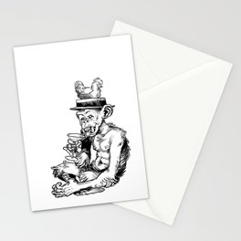drinky monkey Stationery Cards
