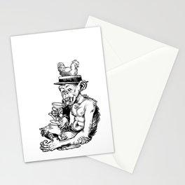 drinky monkey Stationery Cards