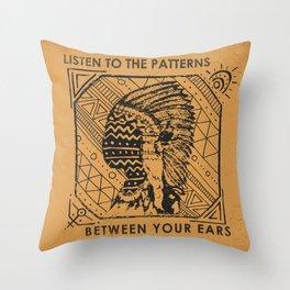 Mind Patternz Throw Pillow