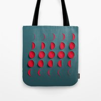 the moon Tote Bags featuring Moon by Robotic Ewe