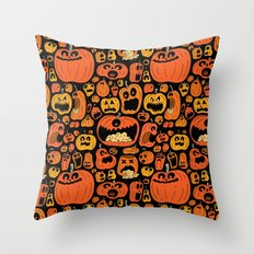 Pumpkin Pattern Throw Pillow