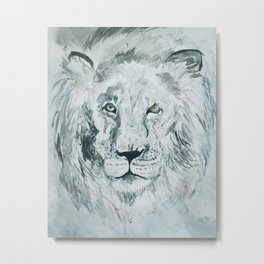 Lion Heart Metal Print