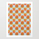 Hamburger and French Fries Pattern by haidishabrina