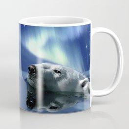 Aurora Dreaming - Swimming Polar Bear Coffee Mug