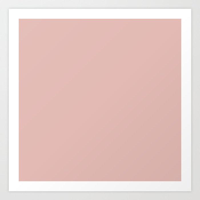Solid Color Rose Gold Pink Kunstdrucke