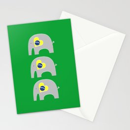 Brazilian Elephant 2 Stationery Cards