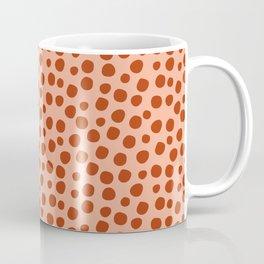 Irregular Small Polka Dots terracota Coffee Mug