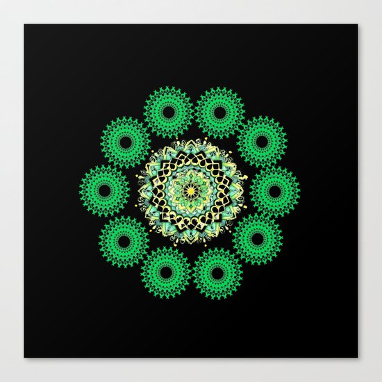 Anahata Flower in the Night Canvas Print