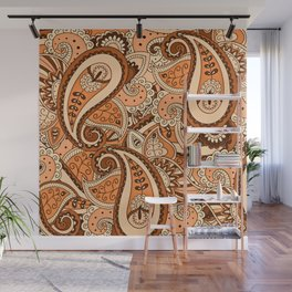 African Pattern No22 Brown Wall Mural