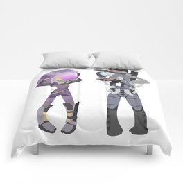 Mass Effect - Tali and Legion [Commission] Comforters
