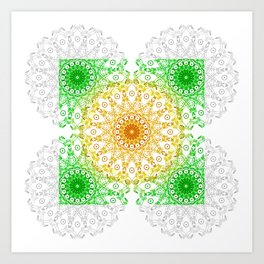 Mandala Calamar Art Print