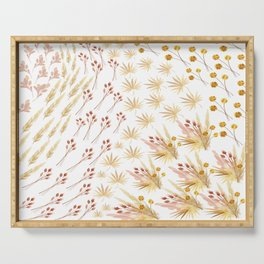 Mari's Bouquet of Dried Flowers Serving Tray