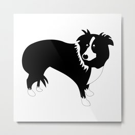 MOLLY THE COLLIE Metal Print