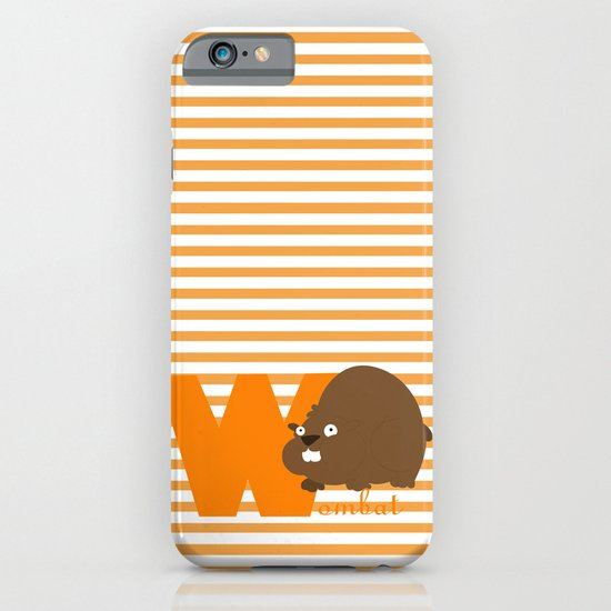 w for wombat iPhone & iPod Case