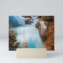 Alone on the lake Mini Art Print