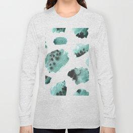 watercolor polka dots seamless pattern Long Sleeve T-shirt