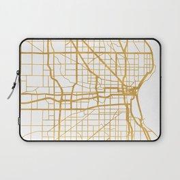 MILWAUKEE WISCONSIN CITY STREET MAP ART Laptop Sleeve