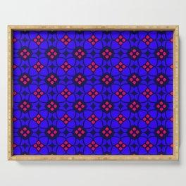 Purple and Pink Mosaic Pattern Serving Tray