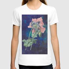 French Poppy - Vintage Botanical Illustration Collage T-shirt