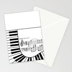 Piano keys I Stationery Cards