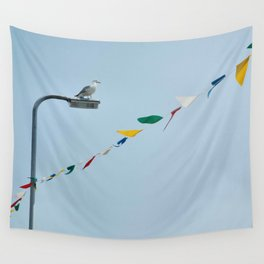Welsh seagull and bunting Wall Tapestry