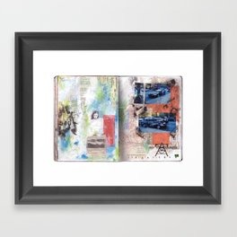 Parked on my Block Framed Art Print