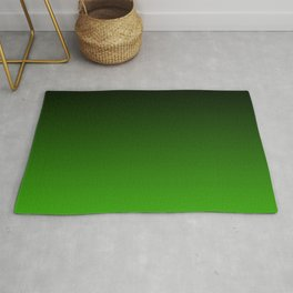 Black and Grass Green Gradient 055 Rug
