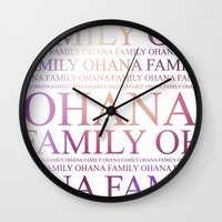 ohana Wall Clocks featuring Ohana by Indulge My Heart