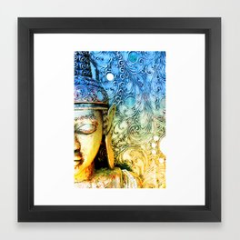 Faded Buddha Framed Art Print