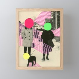 Fluo Conversations Framed Mini Art Print