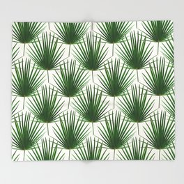Simple Palm Leaf Geometry Throw Blanket