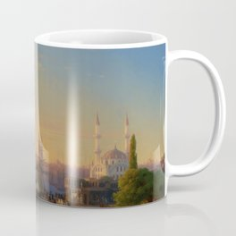 View of Constantinople and the Bosphorus Landscape Masterpiece by Ivan Aivazovsky Coffee Mug
