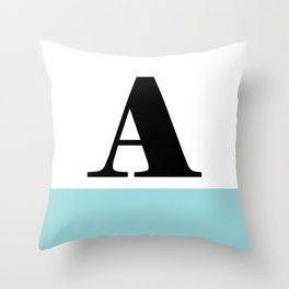 Monogram Letter A-Pantone-Limpet Shell Throw Pillow