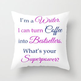 Coffee into Bestsellers Throw Pillow