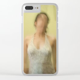 faceless woman Clear iPhone Case