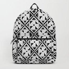 symetric tartan and gingham 23 -vichy, gingham,strip,square,geometric, sober,tartan Backpack