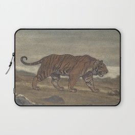 Vintage Illustration of a Striped Tiger (1875) Laptop Sleeve