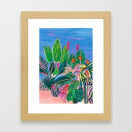 Tropical Patio Framed Art Print