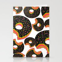 donut Stationery Cards featuring Donut by Luna Portnoi