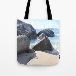 The Baths Beach on Virgin Gorda, BVI - Blissful Beach Tote Bag